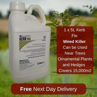 Kerb Flo 5L Long Lasting Grass Weed Control Around Trees And Shrubs