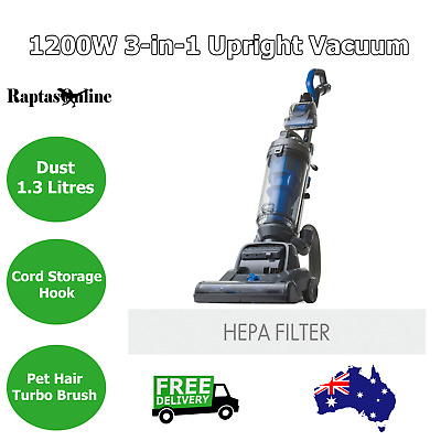 1200W Upright Vacuum Cleaner Bagless Portable Compact Turbo HEPA Filter AU