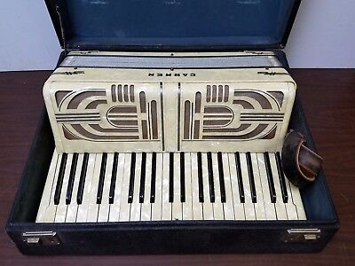 Vintage Hohner Carmen Full Size 41/120 Piano Accordion w/Case