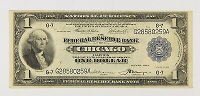 1918 $1 Large Federal Reserve Not Chicago Il Illinois