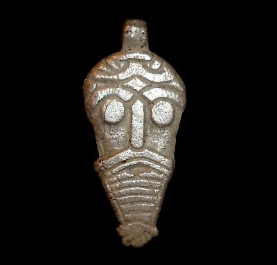 VIKING Ancient SILVER AMULET God ODIN Circa 700-900 AD               -A385