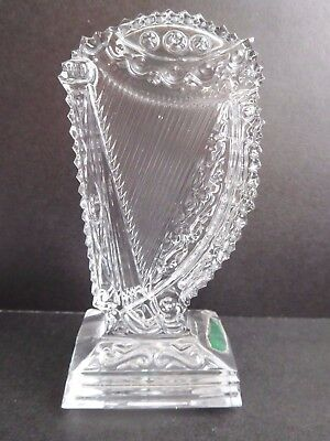 Galway Irish Crystal glass Harp ornament/paperweight 4-1/2 inches high VGC