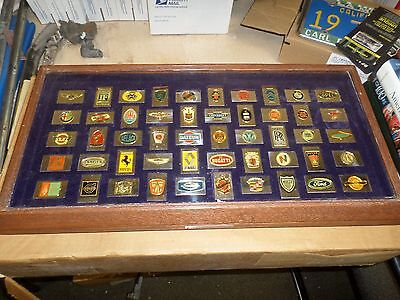 Franklin Mint Official Emblems Of 50 Greatest Autos Ingots - sterling silver
