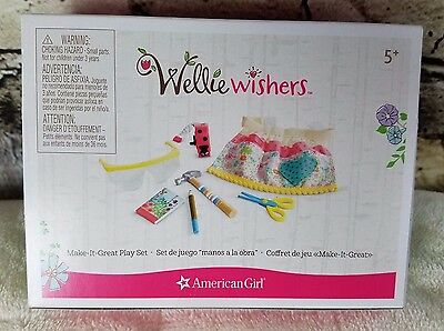 American Girl Wellie Wishers Make It Great Playset New In Box 7 Piece Set