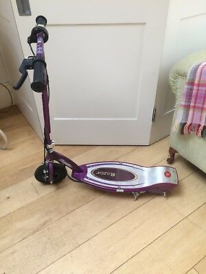 Razor E100S Electric Scooter With Seat, purple