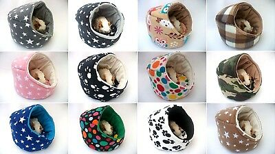 """Cozy Pets Guinea Pig Bed Pod House Fleece Snuggle Cuddle Cup Pouch Sleeping  10"""""""