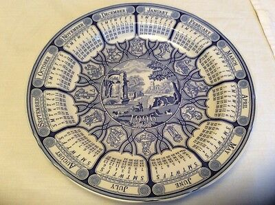 The Spode Blue Room Calendar Plate 1996 Blue Italian First in series.