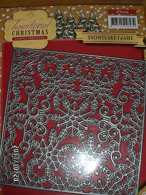 Yvonne Creations- Grosse Stanzschablone-Snowflake Frame