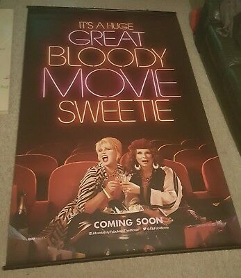 ABSOLUTELY FABULOUS MOVIE BANNER - Cinema Ex-Display Odeon - 8ft x 5ft Vinyl