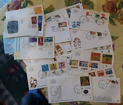30 Vintage Isreal  First Day of Issue Cacheted Cover Lot