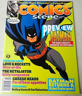 "COMICS SCENE  Mag #29 ""92 Batman Animated Adventure,Marc Silvestri's Cyber Force"