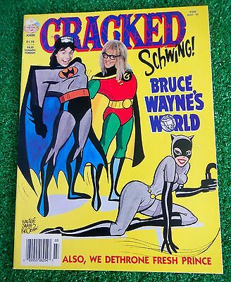 "Cracked Magazine Comic Mar 1994 #288  Issue ""Bruce Wayne's World "" NO LABEL"