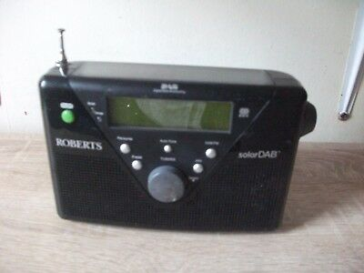 Roberts Radio Solar Dab 2 Black Used