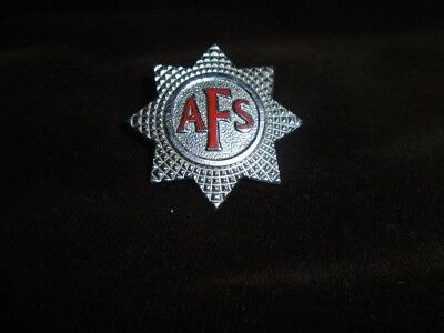 WW2  British Home Front Auxiliary Fire Service Cap Badge. 1940. Blitz.
