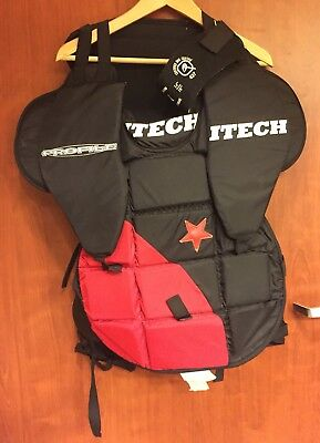 ☀Itech Profile Hockey Goalie☀Chest Pads Sz M Neck N-1 Ballistic