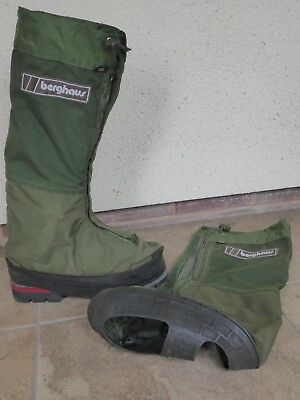 Berghaus Yeti Goretex gaiters, green, used, suitable for size 10 boot.