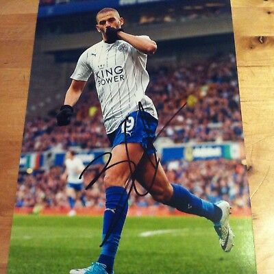 LEICESTER CITY ISLAM SLIMANI signed autographed 12x8 photo SIGNED