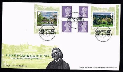 GB 2016 Royal Landscape Gardens Retail Book First Day Cover  Unaddressed