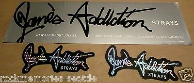 Jane's Addiction Lot 1 Strays LG Static Window Door Sticker And 2 Promo Stickers