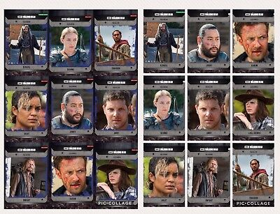 Topps The Walking Dead COMMUNITY Wave 1 Black & Blue Sets + Awards DIGITAL