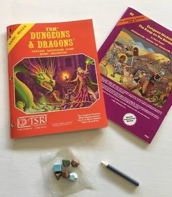 TSR Dungeons & Dragons Fantasy Adventure Game Basic Rulebook Baisc Rules 1
