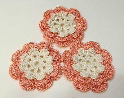 hand crocheted flower 1 pcs