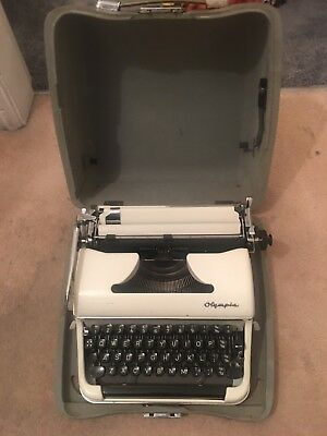 Vintage Olympia Portable Typewriter in Travel Case
