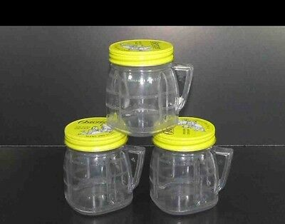 3 Osterizer Mini Blend and Store 4 oz ea Plastic Containers