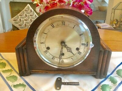 Lovely Vintage Westminster Chiming Mantel Clock - Working With Key
