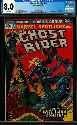 Marvel Spotlight #8 Cgc 8.0 Ghost Rider White Pages Bronze Age
