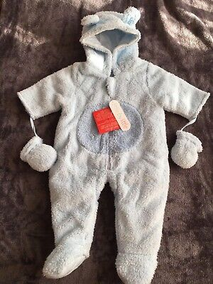 Baby All In One Fleece Bodysuit-Age 3-6 Months