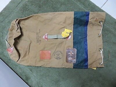 Vintage Boy Scout Duffle Bag With Patches-1967 World Jamboree