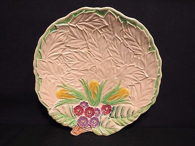 "Wade Leaf Dish 6 7/8"" Majolica Snack Candy VGUC Vintage Earthenware Pottery"