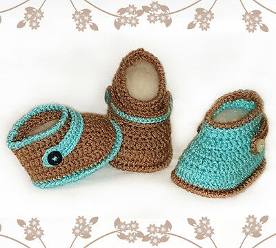 Crochet Pattern - Baby Booties - 3 sizes - Baby Boots  - CROCHET PATTERN