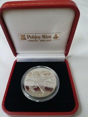 1995 Isle of Man silver proof Crown Aircarft of WWII