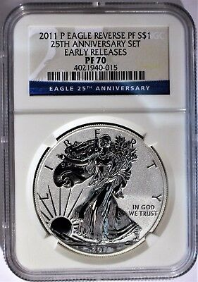2011-P Reverse Proof Silver Eagle NGC PF-70 - Early Release