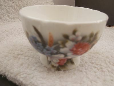 Small Footed Sugar Bowl With A Garden Flower Pattern    No Maker