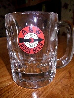 Vintage 1948 A & W Root Beer Soda Glass Mug/Stein Bullseye Restaurant Drive-in