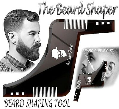 THE BEARD SHAPER - Shaping Tool, Template, Symmetry, Comb - Mens Birthday gift