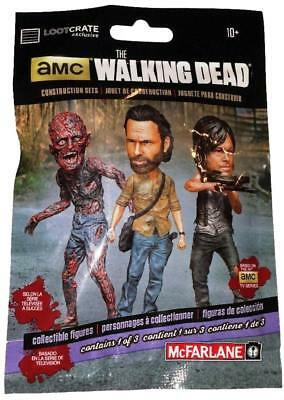 15 Packs The Walking Dead Figure Set Sealed Loot crate Zombie McFarlane Toys Mix