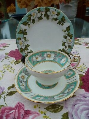 Vintage Mix & Match China Trio Foley Christmas Rose Tea Cup Saucer Gladstone