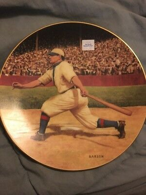 """Honus Wagner """"the Flying Dutchman"""" 1993 Delphi 8"""" 22Kt Gold Collector Plate"""