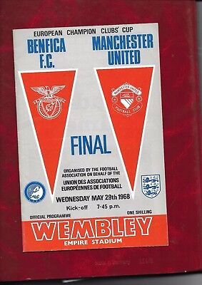 1968 European Cup Final Manchester United v Benfica football programme @ Wembley