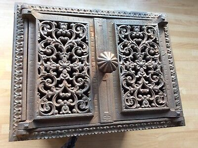 Ornate  French metal box possibly old post box ? Architectual salvage