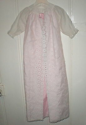 Puppentaufkleid rosa 75 cm/doll christening robe pink approx. 30""
