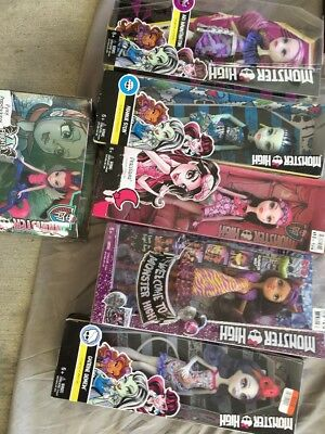 * Monster High Doll LOT#3. 6 New In Box!  Great Variety.