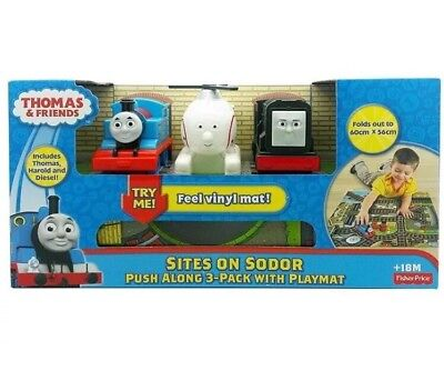 Thomas The Tank Engine & Friends Sites On Sodor 3-Pack & Playmat First Thomas