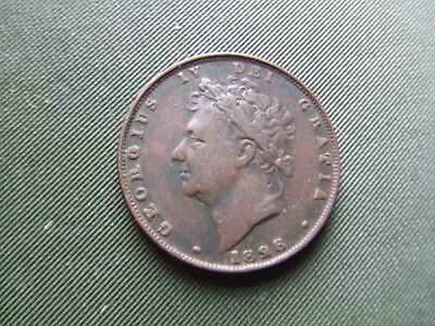 George Iv  1828, Farthing.    Scarce.    Nice Condition.