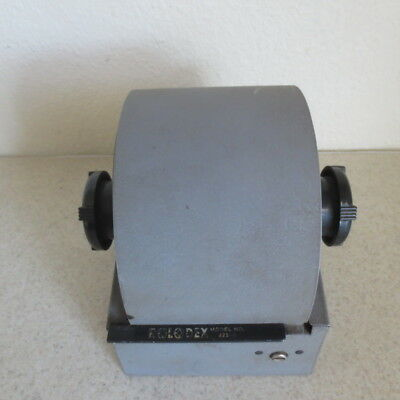 Vintage Rolodex Gray Metal File Cards and Dividers Industrial Model 2254D