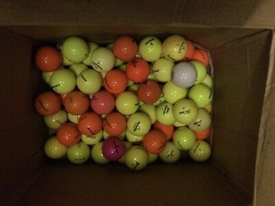100 Coloured  Golf Balls Grade A To Mint All Makes All Mint